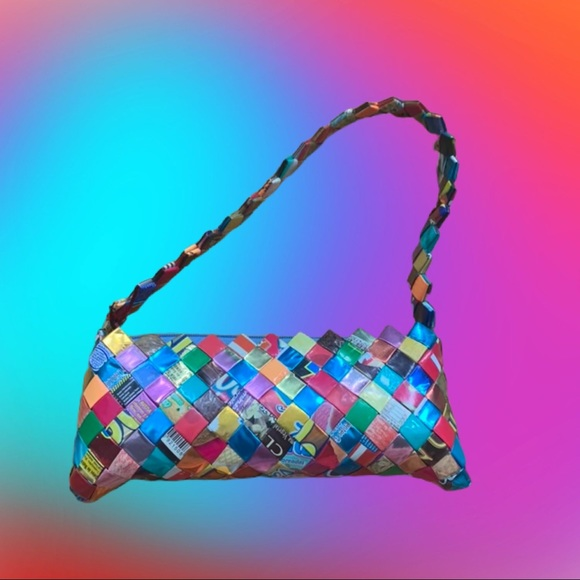 Vintage Handbags - Vintage Y2K Upcycled Mexican Candy Wrapper Purse